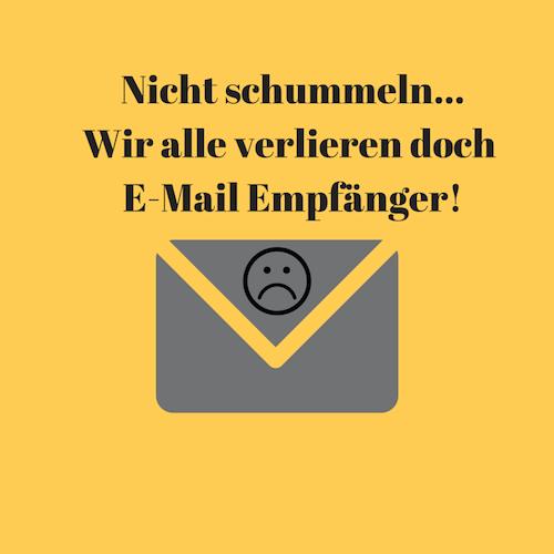 7 Gründe, warum sich alle von Ihrem E-Mail Marketing abmelden