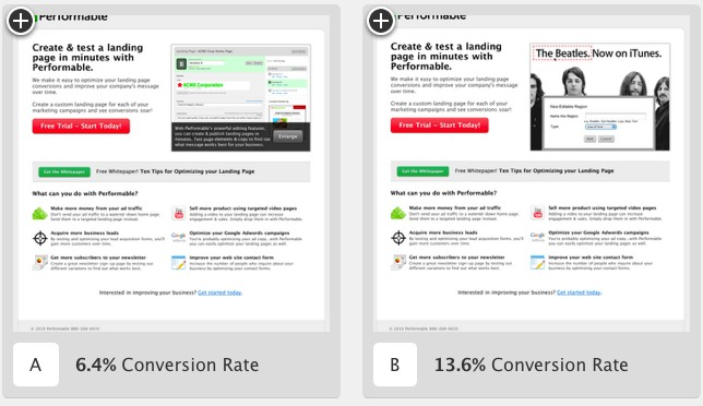 A/B-Tests für Landing-Pages