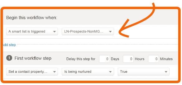 Workflow einrichten mit Smart-List