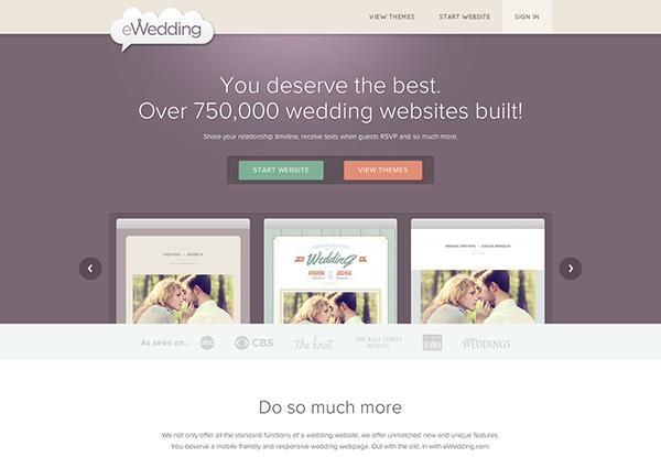 Beispiele von gutem Homepage-Design - eWedding