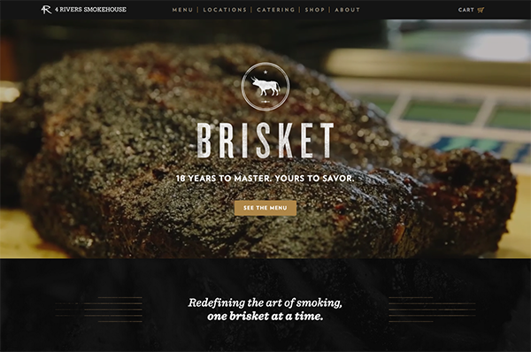 Beispiele von gutem Homepage-Design - 4 Rivers Smokehouse