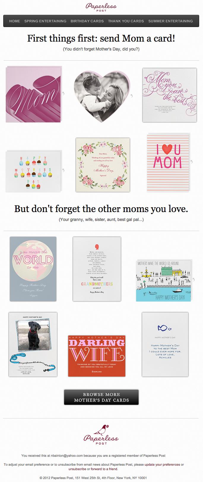 Beispiele herausragender E-Mail-Marketing-Kampagnen – Paperless Post