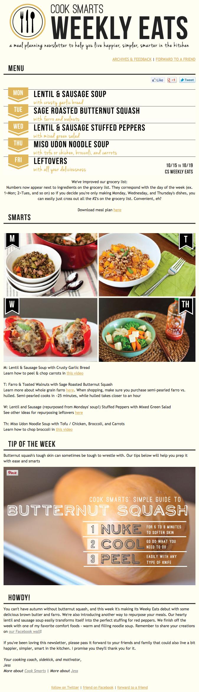 Beispiele herausragender E-Mail-Marketing-Kampagnen – Cook Smarts