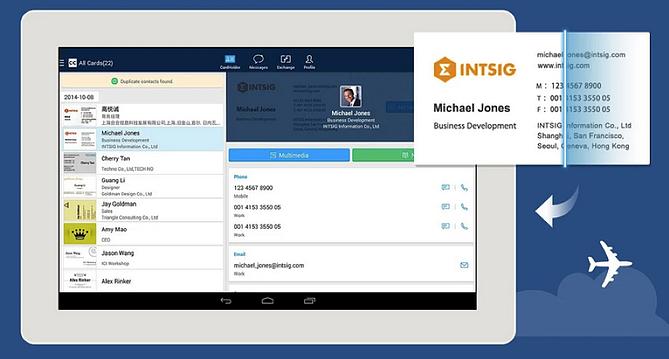 HubSpot – Apps für Vertriebsmitarbeiter – CamCard