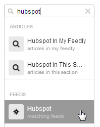 Matching Feeds in Feedly