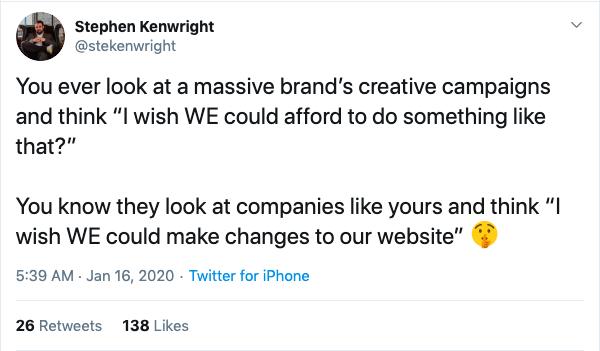 Tweet von Stephen Kenwright über CMS