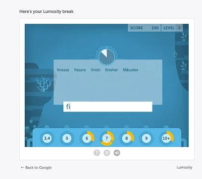 Google-Chrome-Erweiterungen für Vertriebsmitarbeiter – Lumosity Break