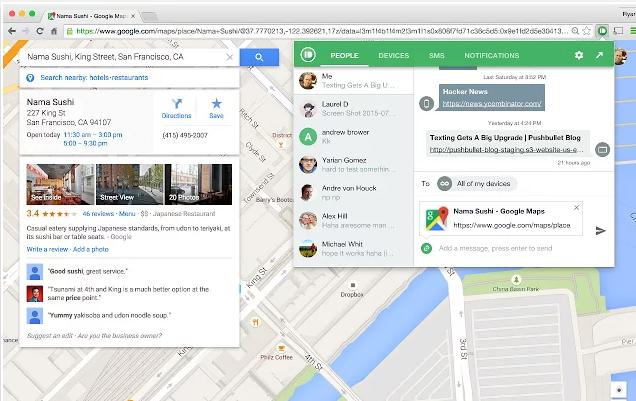 Google-Chrome-Erweiterungen für Vertriebsmitarbeiter – Pushbullet