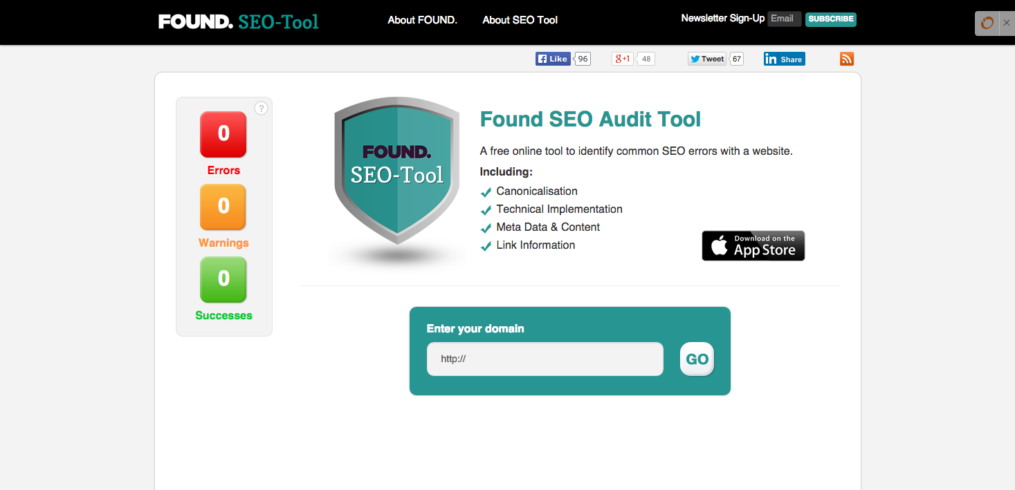 HubSpot Inbound-Marketing – Kostenlose SEO-Tools – SEO Audit Tool von Found
