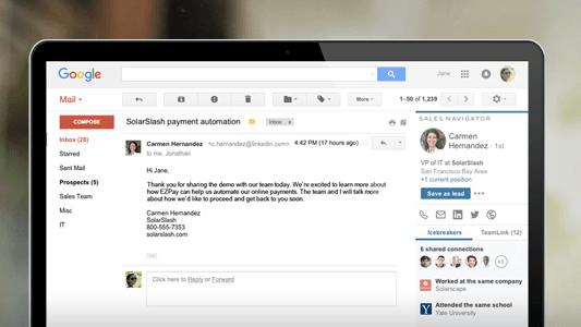 Google-Chrome-Erweiterungen für Vertriebsmitarbeiter – LinkedIn Sales Navigator