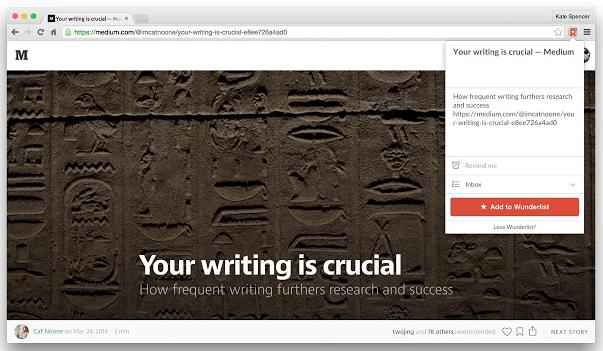 Google-Chrome-Erweiterungen für Vertriebsmitarbeiter – Add To Wunderlist