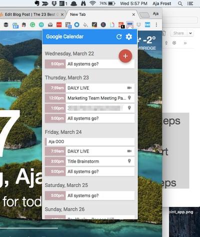 Google-Chrome-Erweiterungen für Vertriebsmitarbeiter – Google Kalender