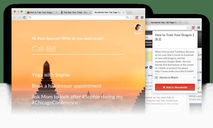 Google-Chrome-Erweiterungen für Vertriebsmitarbeiter – Wunderlist New Tab