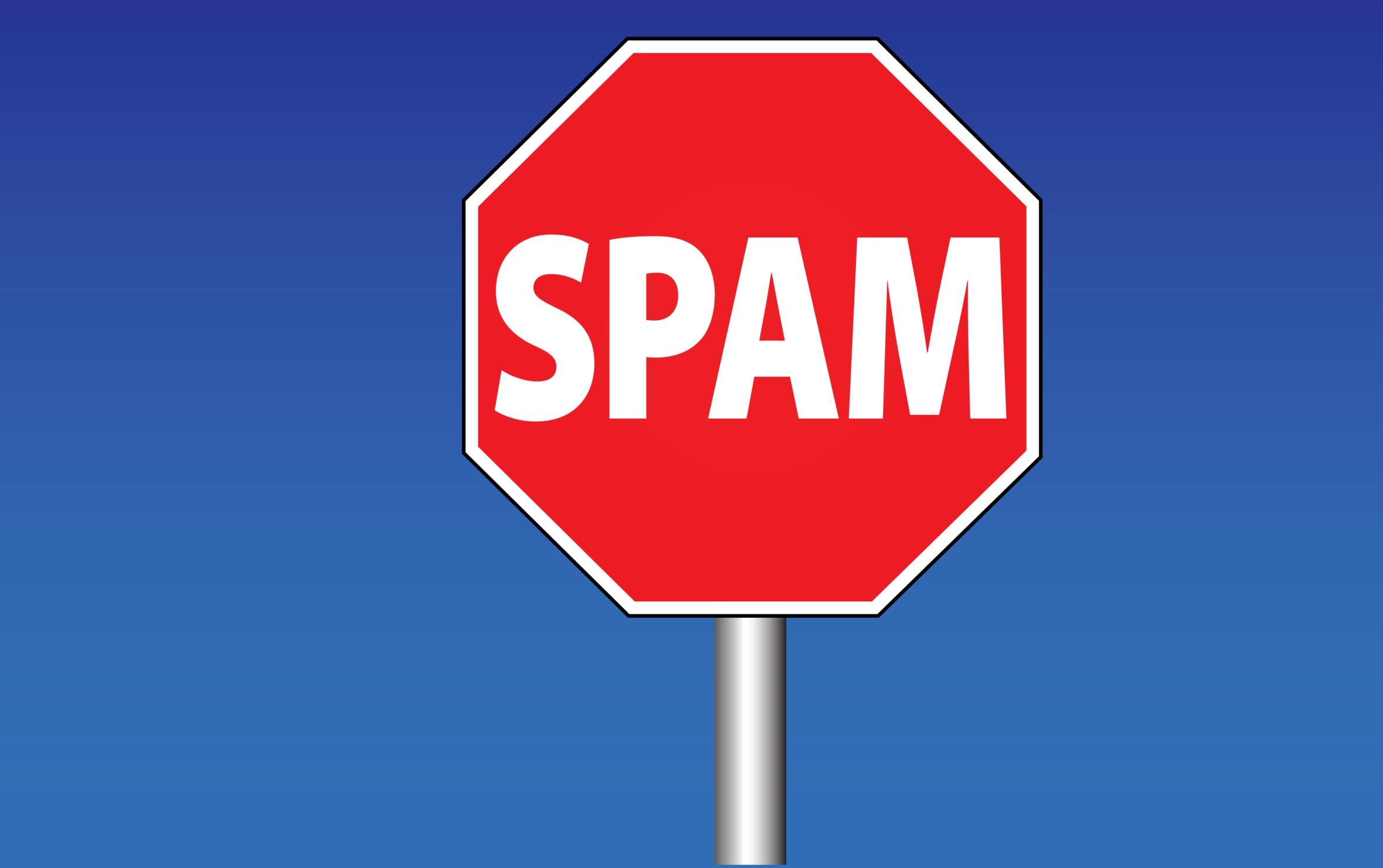 Kein-Spam-Stoppschild