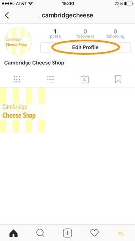 Allgemeines Instagram-Profil
