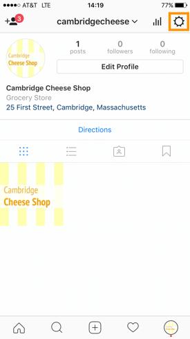 Instagram–Profileinstellungen
