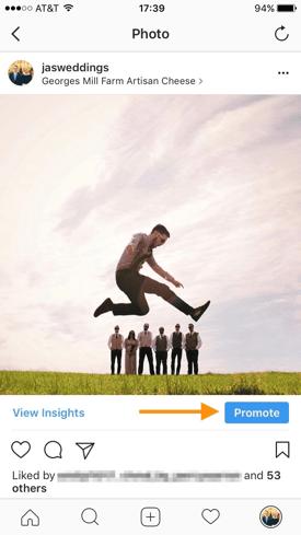 Ein Instagram-Foto promoten
