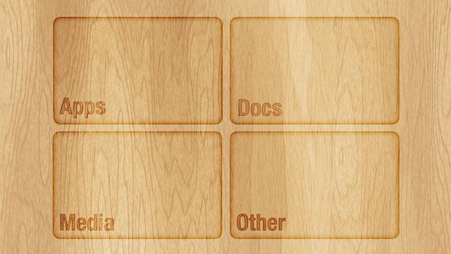Hintergrundbild für einen besser strukturierten Desktop - Beispiel 4