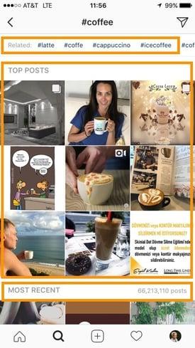 Beispiel für ein Instagram-Hashtag