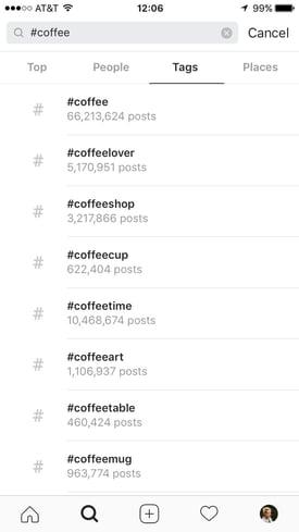 Passende Instagram-Hashtags finden