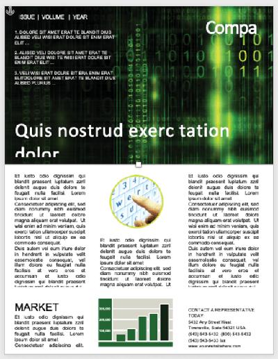 Matrix-Code Newsletter Vorlage von PoweredTemplate