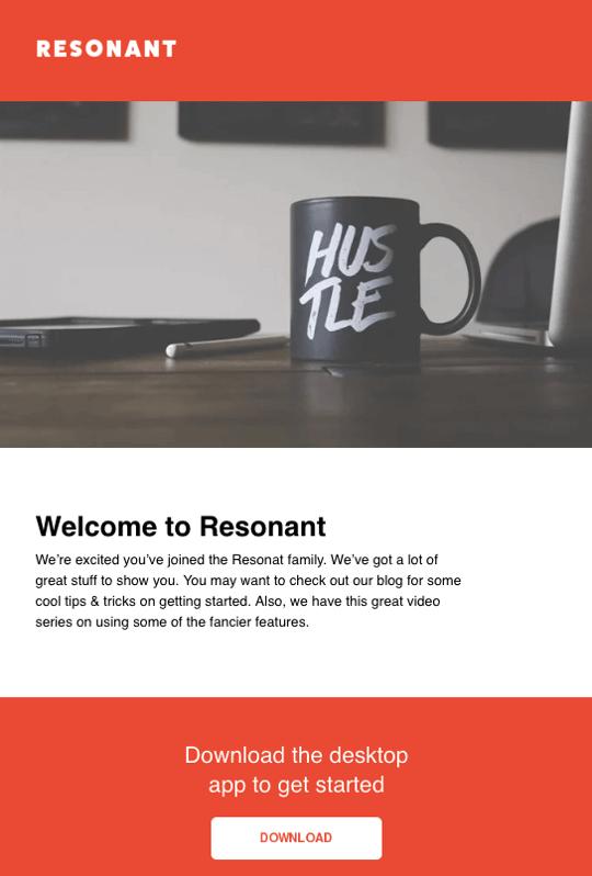 Newsletter-Template Resonant von HubSpot