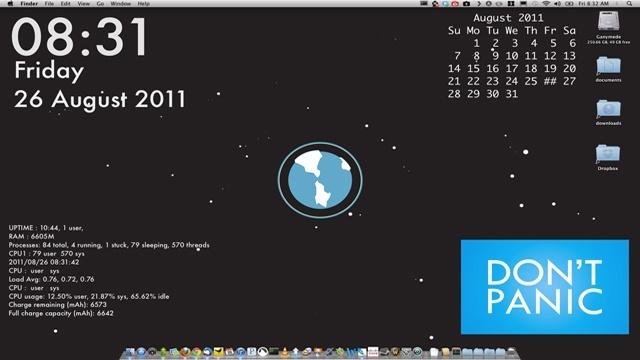 Mit GeekTool können Sie Ihren Mac-Desktop anpassen