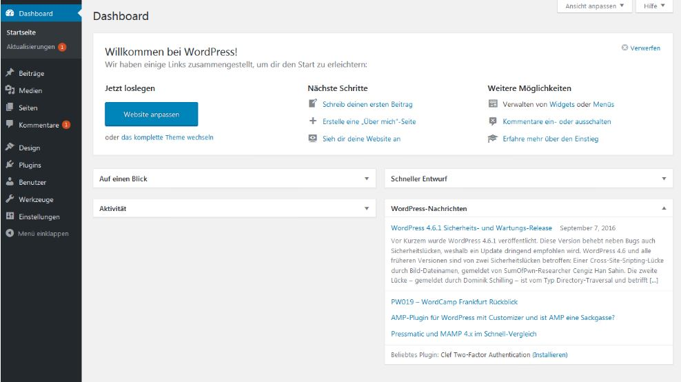 HubSpot-Wordpress-Dashboard