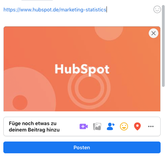 Facebook Post von HubSpot