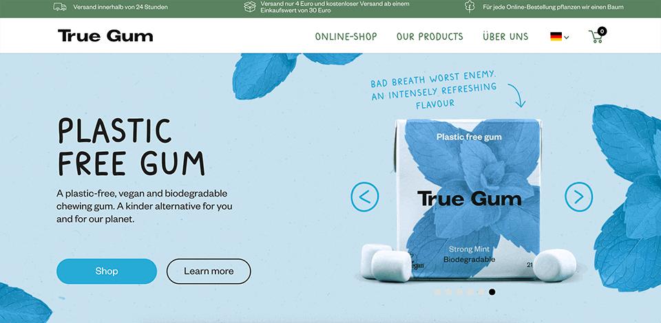 True Gum - Kaugummi Webseite
