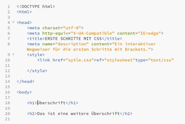 Ausgelagertes-CSS-Dokument-stylesheet