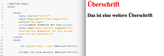 CSS-Einbindung-Quellcode