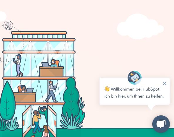 Chatbots-in-der-kundenkommunikation-beispiel-hubspot-begruessung