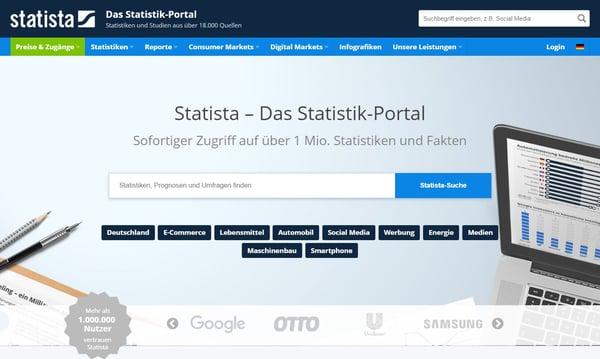 Ressourcen für Datenvisualisierung – Statista