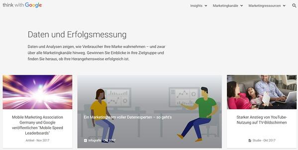 Ressourcen für Datenvisualisierung – Think with Google