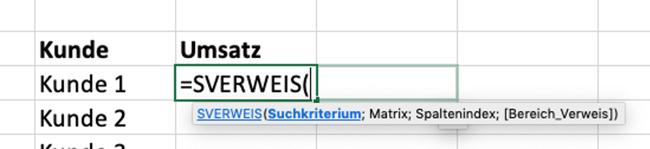 So funktioniert Excel SVERWEIS