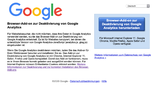 Google Analytics_Opt out Cookie_1