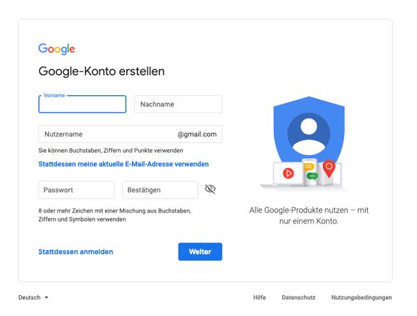 Google-Search-Console-einrichten-Google-Konto-anlegen