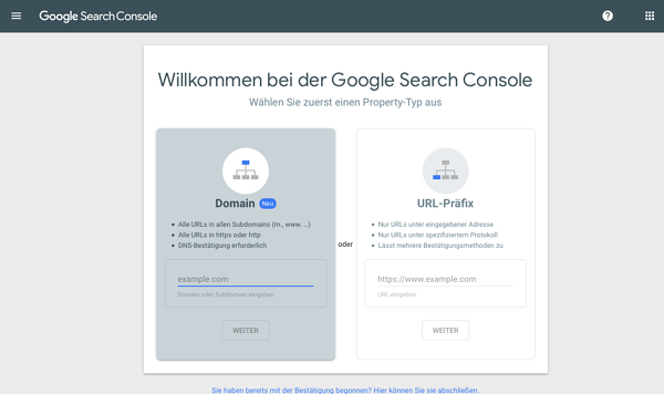 Google-Search-Console-einrichten-Property-anlegen