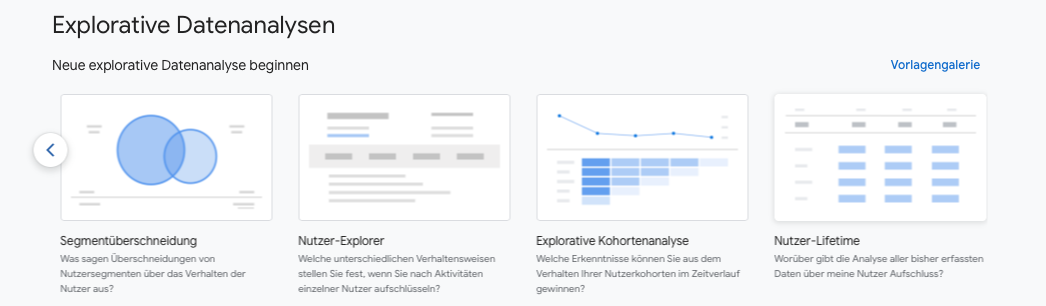 Google-Analytics 4 explorative Kohortenanalyse