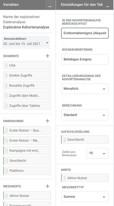 Google-Analytics 4 explorativen Datenanalyse