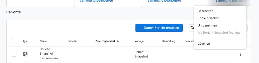 Google-Analytics 4 Als Bericht-Snapshot festlegen