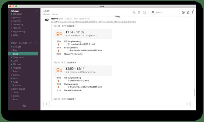 HubSpot - Produktivitäts-Bots für Marketer - moovel-Bot in Slack
