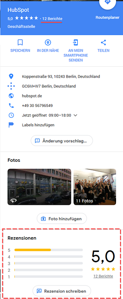HubSpot-Google-Rezensionen