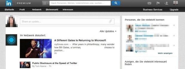 HubSpot Marketing Blog - Neue LinkedIn-Features - Altes Startseitenlayout