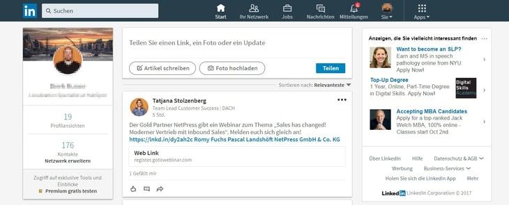 HubSpot Marketing Blog - Neue LinkedIn-Features - Neues Startseitenlayout