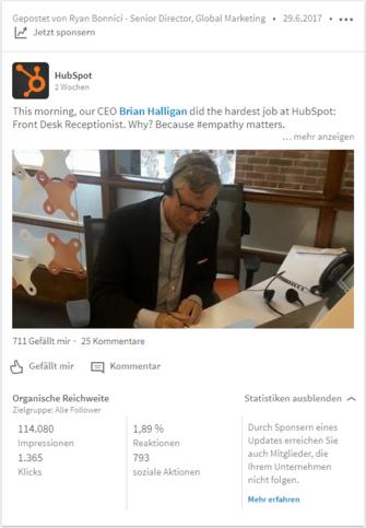 HubSpot Marketing Blog - Neue LinkedIn-Features - Zusätzliche Analyticsdaten für Beiträge