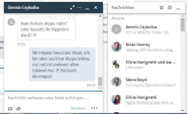 HubSpot Marketing Blog - Neue LinkedIn-Features - Chat-Fenster
