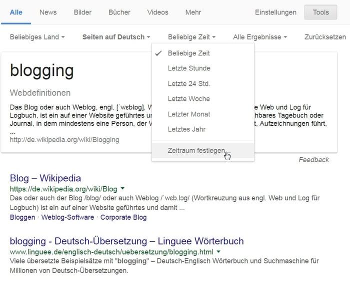 HubSpot - Recherche für Infografiken - Google erweiterte Suche