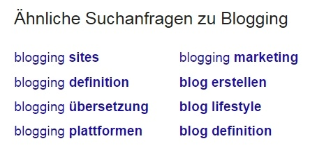 HubSpot - Recherche für Infografiken - Google-Suche verwandte Themen